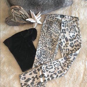 Hudson Animal Print Skinny Jeans